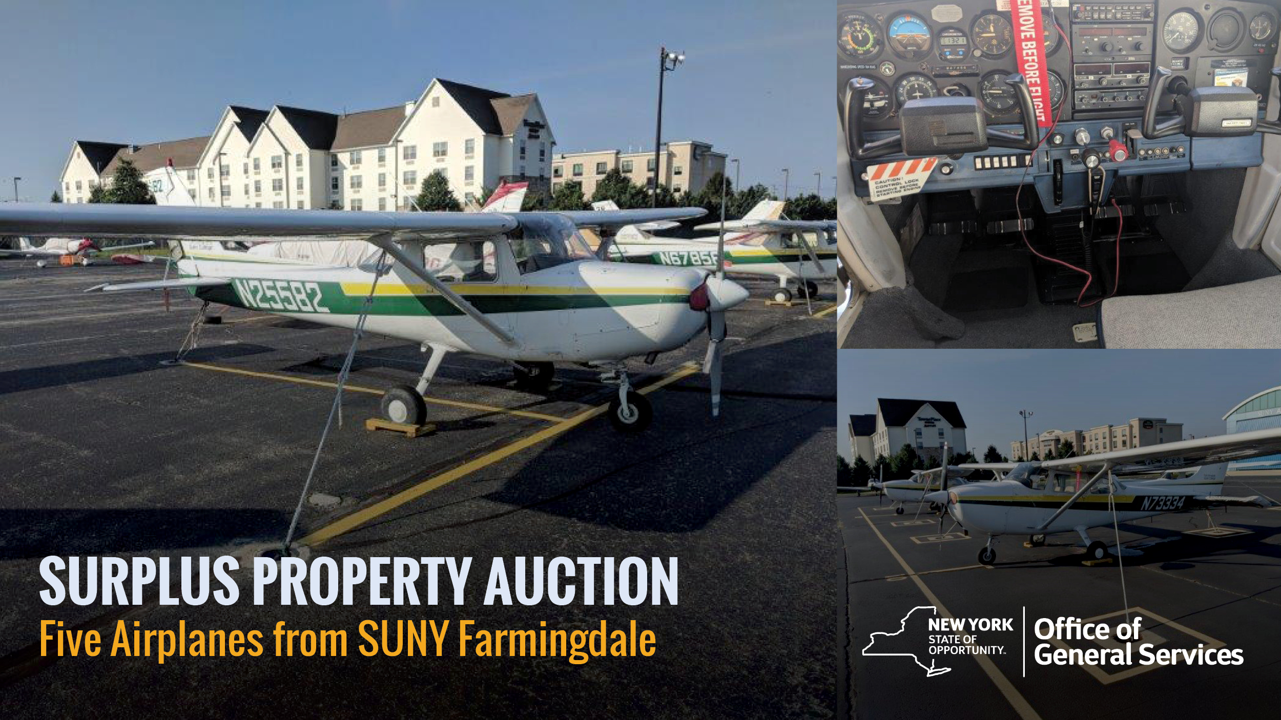 OGS to Auction Five Airplanes April 23 at Republic Airport on Long