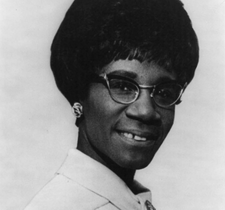 Portrait of Shirley A. Chisholm.