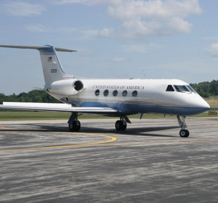 Picture of Gulfstream G3 acquired through the Federal Surplus property program.