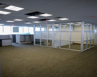 A view of renovated office space.