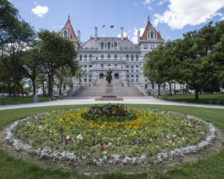 View of the New York State Capitol