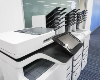 View of Copy Machines.