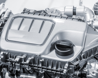 A picture of an automotive engine.