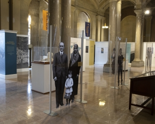 A view of the exhibit 'People of New York' on display in the New York State Capitol.