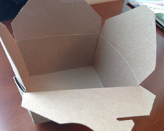 Picture of a take-out container.