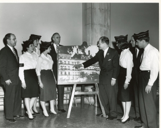 Governor Rockefeller with Capitol Guides, 1960s.
