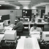 OGS employees at computers, 1990s.