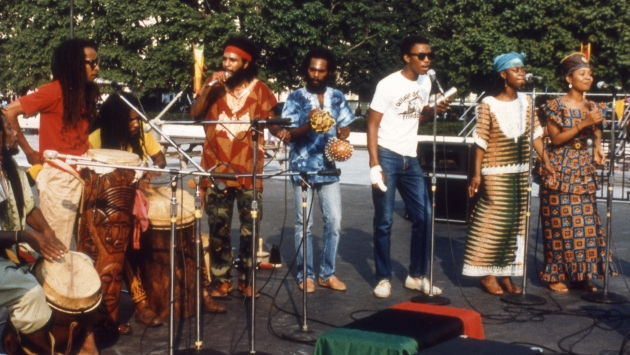 A performance at the Plaza's International Festival, 1980.