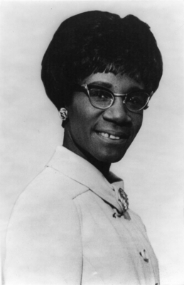 Photograph Portrait of Shirley Chisholm.