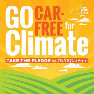 Go Car-Free For Climate Take the Pledge #NYSCarFree