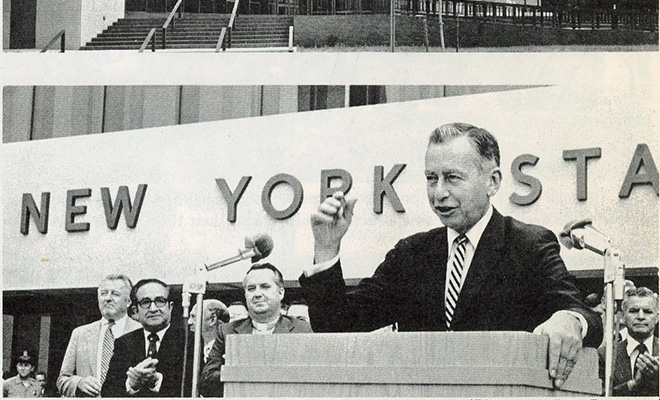 Governor Wilson dedicates the Hauppauge State Office Building in 1974.