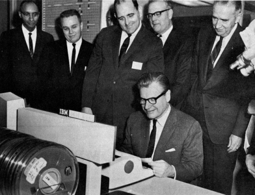 Governor Rockefeller opening the OGS Computer Center.